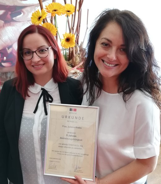 v.l.n.r.: Juliane Krebs (Recruiterin), Zorica Stojanova (Division Manager Commercial)